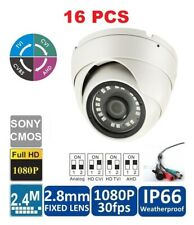 16PCS- 700TVL 960H CCD Sony CCTV Dome 18 IR Camera with 2.8mm Wide Angle Lens