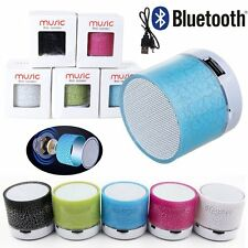 LED Portable Mini Bluetooth Speakers Wireless Bass Speaker With TF USB FM Radio