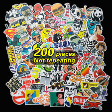 200 x random vinyl decal graffiti sticker bomb laptop waterproof stickers skate#