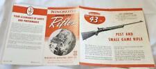 Vintage 1940s Winchester Center-Fire Rifles Gun Brochure Booklet Pamphlet