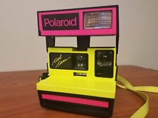 Polaroid Cool Cam 600 Neon Yellow Pink One Step Close Up Instant 600 Film Camera