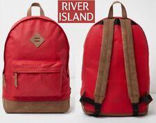 RIVER ISLAND Red School-Work-Travel-Gym Unisex Backpacks *NEW