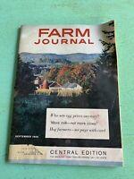 Vintage September 1959 Farm Journal American Agriculture News Magazine Farming