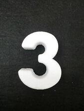 """NUMERO NUMERI CIFRA CIFRE POLISTIROLO DA DECORARE """"3"""""""