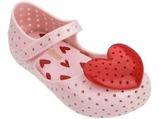 NWT MINI MELISSA Furadinha XIII Heart Mary Jane Sandal Shoes Pink Red Cute 32595