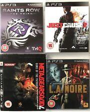 Saints Row-la tercera causa + sólo 2+ vendidos Metal Gear 4+L.A Noir (paquete De Juegos PS3) 226
