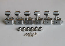 6 Inline Strat/Tele Vintage Guitar Tuning Key Guitar Tuners Machine Heads Chrome