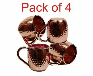 Copper Drinking Water Glass Cup Tumbler Moscow Mule Mug Ayurveda Health Yoga New