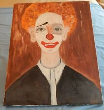CLOWN Marlene Sartini Signed Original Oil Painting on Canvas 20 by16 Unframed
