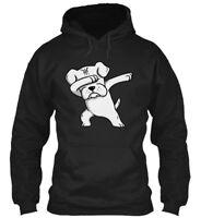 Boxer Dog White Dabbing Gildan Hoodie Sweatshirt