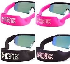 Victoria's Secret PINK BLING SUNNIES Logo Neoprene Strap Pink Black