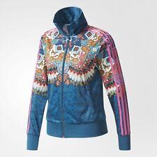 Adidas Originals Women Farm Firebird Borbomix Track Jacket Blue Floral BR5141