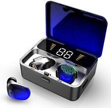 Wireless Headphones, IPX7 Bluetooth 5.0 Headphones 100H Playtime, Deep Blue