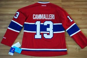 BNWT REEBOK MONTREAL CANADIENS MICHAEL CAMMALLERI #13 JERSEY NHL WOMEN'S MEDIUM