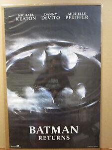 vintage Batman Returns original DC Comics movie poster DeVito Pfeiffer 9314