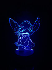 STITCH LILO AND STICH Acrylic 3D LED 7 Colour Night Light Touch Table Lamp GIFT