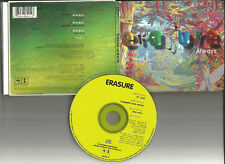 ERASURE Always 4TRX 7 INCH & CAPELLA CLUB MIXES & UNRELEASED USA LIMIT CD single