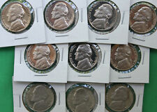 1970 - 1979 10 Coin Set Proof Jefferson Nickel Lot 5c Coins Collection Five Cent