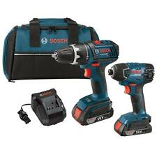 NEW! Bosch CLPK232-181 Impact & Drill Driver 2 Tool Kit 18V Li Ion 2.0Ah Battery