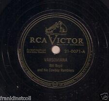 Bill Boyd Cowboy Ramblers on 78 rpm RCA Victor 21-0071: Varsoviana/Blue Danube