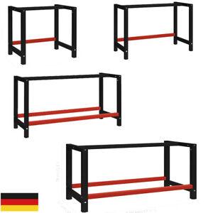 Werkbankgestell Metall Packtisch Arbeitstisch Tischgestell Stand mehrere Auswahl