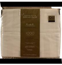 Wamsutta Dream Zone 1000-Thread Count PimaCott Queen Sheet Set Solid Ivory