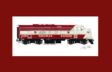 """Canadian Pacific FP7 #1401 11""""x17"""" Matted Print Andy Fletcher signed"""
