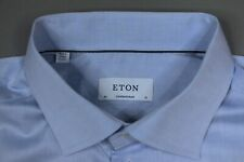 "ETON CONTEMPORARY Signature Twill Men's Business Dress Shirt Size 46 18"" TOP"
