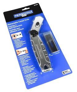 Personna Retractable Carpet Knife Cutter with 5 Blades Utility Razor