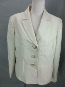NWT LE SUIT SIZE 14 WOMENS TAN LONG SLEEVE CASUAL OFFICE BLAZER TOP T617