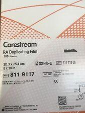 Carestream/kodak Medical X-Ray Film 8x10 Inch Duplicating