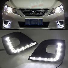2x White LED Daytime Day Fog Light DRL Run lamp For toyota MARK X REIZ 2011-2012