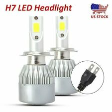 2X 6000K H7 LED Headlight Bulb Car Auto Light Conversion Kit White COB Lamp 200W