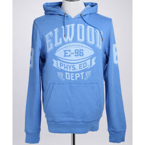 Elwood Mens Pullover Hoodie Cotton Fleece Logo Print Vintage Sweatshirt Tops S-L