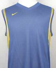 Nike Tank Sleeveless V-Neck mesh Light blue with light yellow S