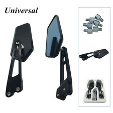 2Pcs Aluminium Alloy Rearview Mirror Anti-glare Universal For Motorcycle Scooter