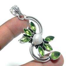 Peridot,Pearl Ethnic Jewelry Handmade  Pendant UP-3979