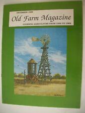 OLD FARM MAGAZINE December 1989