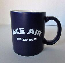 Ace Air Coffee Mug 12 Oz. Navy Blue Satin Finish White Gloss Interior