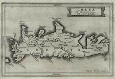 Greek Island of Crete Aegean Greece 1661 Jansson van der Keere miniature map