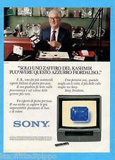 """QUATTROR984-PUBBLICITA'/ADVERTISING-1984- SONY - TRINITRON KV2724 ET  27"""""""
