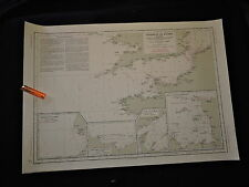 COURANTS de MAREE de la MANCHE   - CARTE MARINE datée 1949