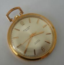 ANTIQUE CAUNY PRIMA MANUAL WIND SWISS POCKET WATCH FROM CIRCA 1940