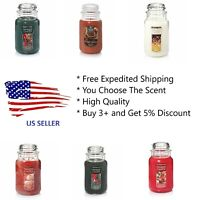 YANKEE CANDLE ** U PICK THE SCENT ** 22 OZ LARGE JAR ** FREE FAST SHIPPING !!!