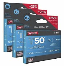 3750 Pack x Arrow 508 Genuine T50 1/2-Inch / 12mm Staples #508