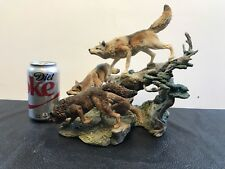 Danbury Mint Generations The Hunt Wolves Wolf Sculpture By Nick Bibby No Box