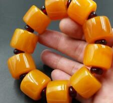 BEAUTIFUL BALTIC AMBER old Beeswax big size Bracelet 5A