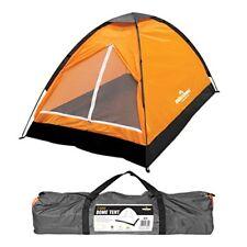 Tiendas de campaña naranjas de dos personas para acampada y senderismo