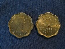 1955 Ceylon/Sri Lanka coin  2 cents  uncirculated beauty  British,  sweet coin