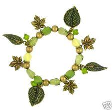 Autumn Leaf Antique Crystal Bracelet, Antique Finished